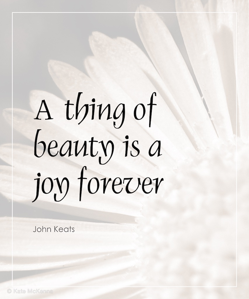 john keats quote on beauty