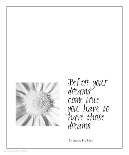 joyce brothers quote on dreams