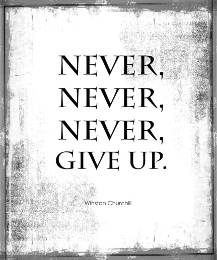 churchill quote on giving up