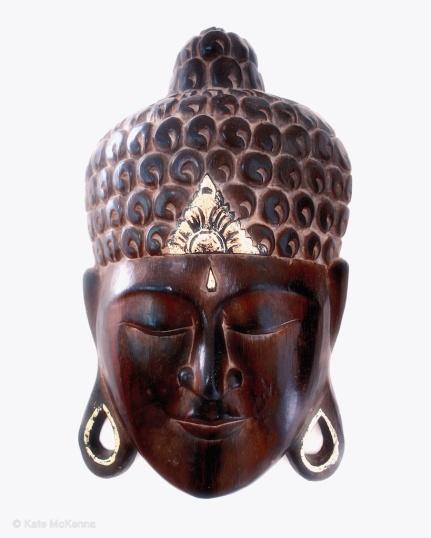 photo wood buddha mask